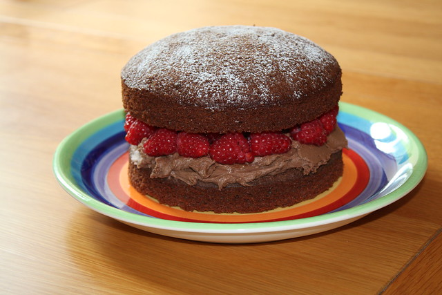 Chocolate & Raspberry Sponge
