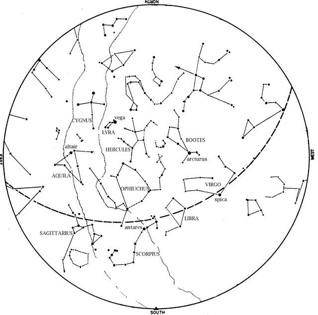 sky map july 2012
