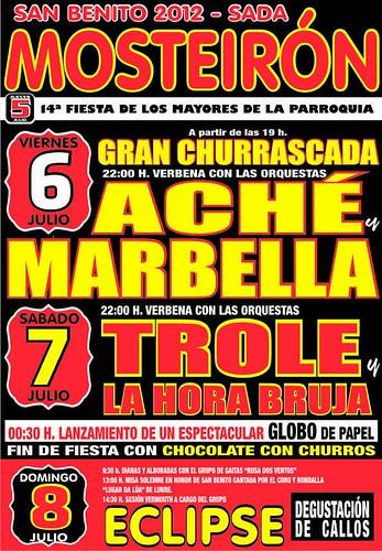 Sada 2012 - Festas patronais de Mosteirón - cartel