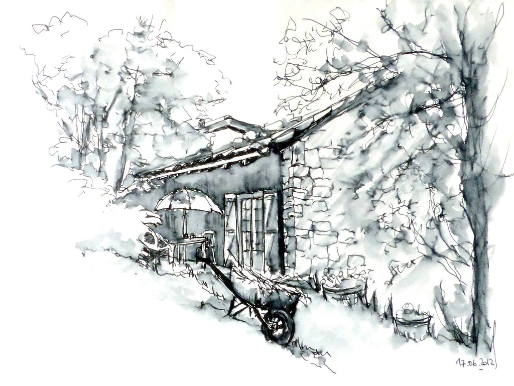 farniente après désherbage, Ardèche