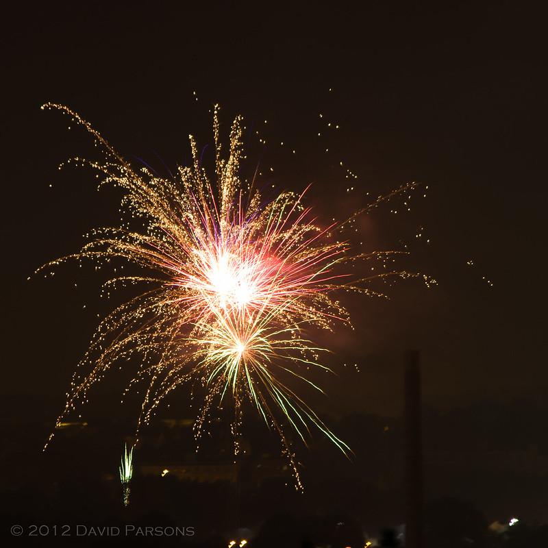 Fireworks in Dorchester 2012