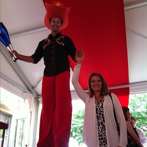 Me & the stilt walker @rougecal