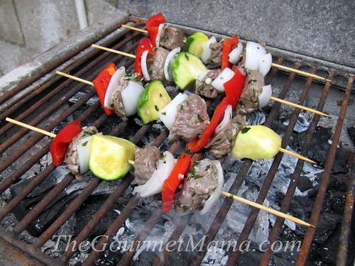 Beef Kabobs with Herb Lime Marinade