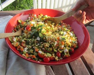fregola with veggies