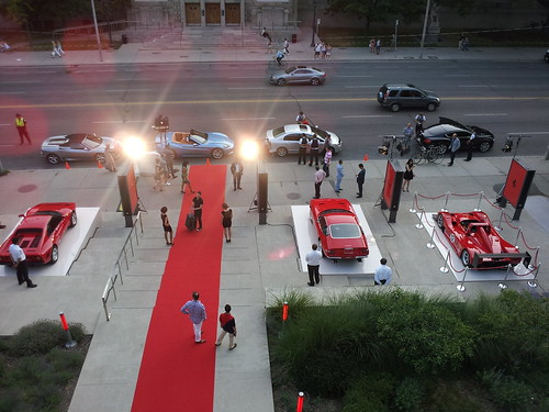 At the #ferrari party