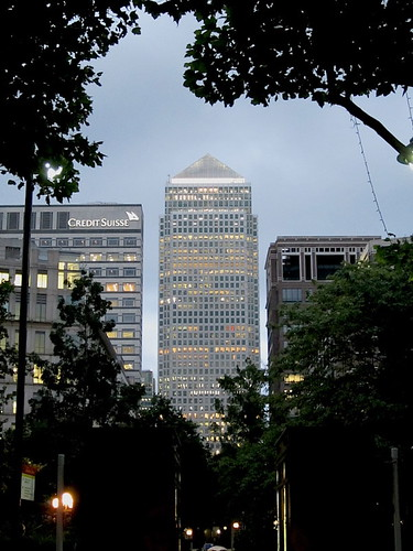 One Canada Square at night
