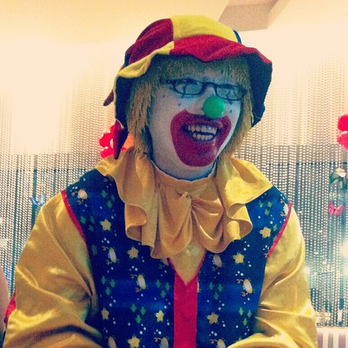 Clown with eyeglasses