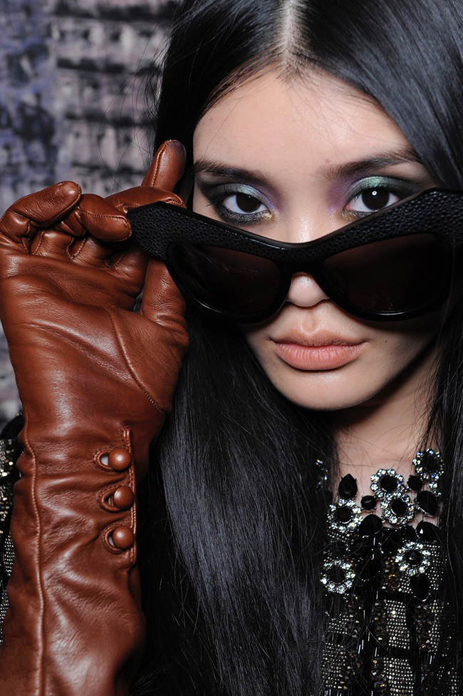 a Roberto Cavalli Eyewear 'Wild Diva' - Special Sunglasses Edition - RC Aw12-13 Fashion Show Backstage