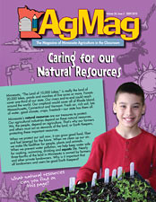 Minnesota Agriculture in the Classroom (AITC) was initiated in 1985 as a unique public/private partnership to fund materials development and distribution to students and teachers. The flagship publication of Minnesota AITC is the popular series AgMag, which is published three times per school year and used mostly in grades 4-6.