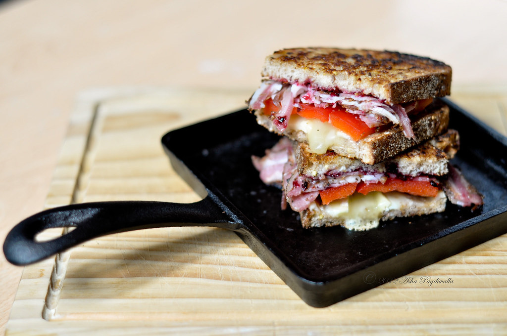 Lunch Sandwich - Lamb proscuitto, brie and blacl currant jam