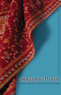cover of Playing with Fire, which is blue and has a red patterned scarf on it