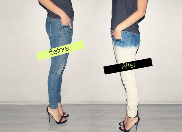 DIY Bleached Jeans
