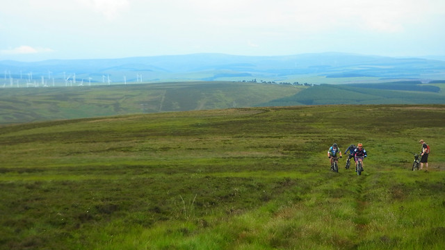 East Lothian Mountainbiking group up the Lammermuirs