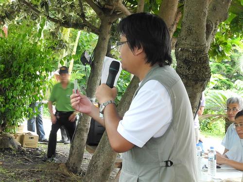 花蓮廠助理研究員林泰祐也是豐濱水梯田復耕的輔導員,幾乎每周都到港口部落報到。