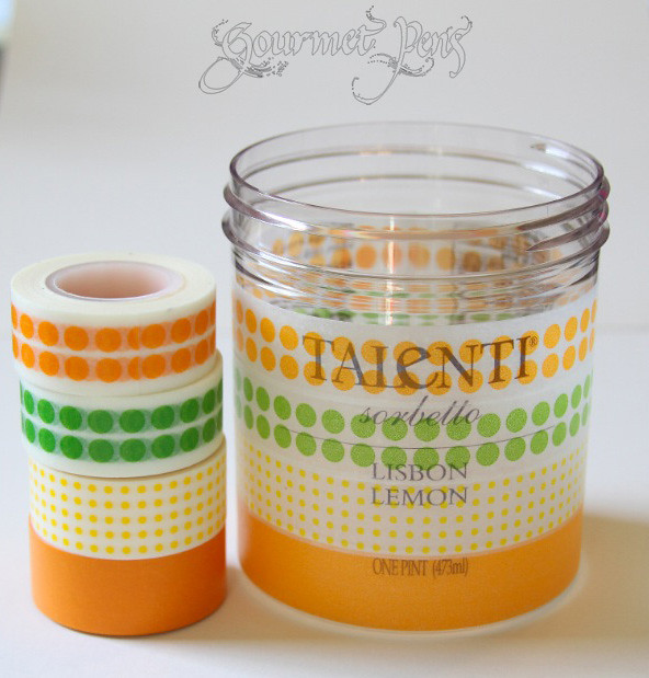 Pen Cups Washi Tape