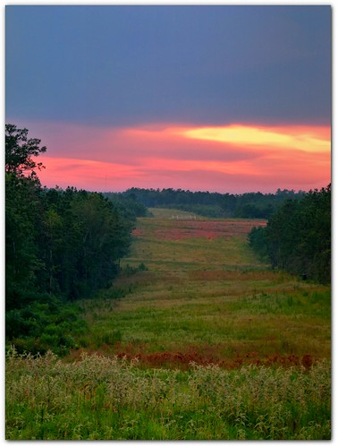 sunset landscape backroads