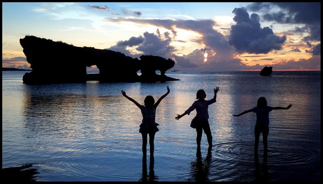 SUNSET SILHOUETTES in OKINAWA