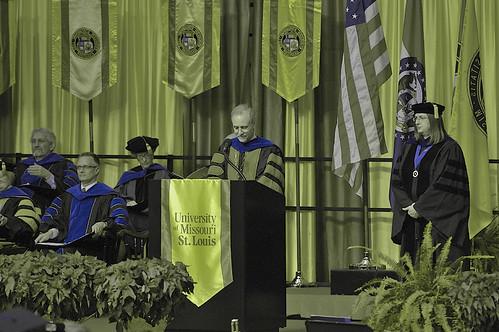 UMSL graduation - preserving PhD Blue