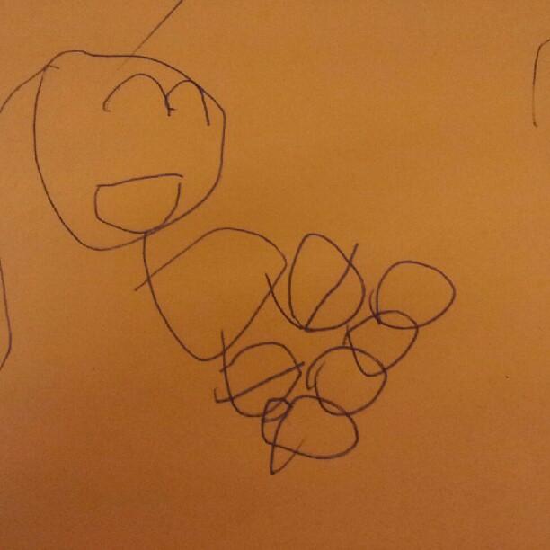 20120801 蕎安的畫 - 他在溜冰