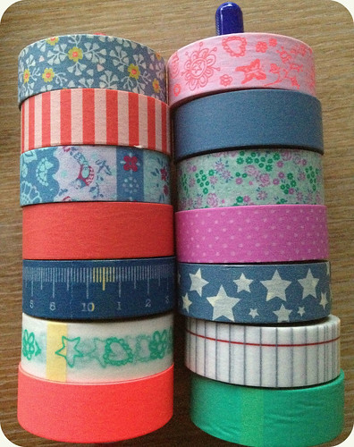 Washi tape collection as of July 2012 by FaeSarah