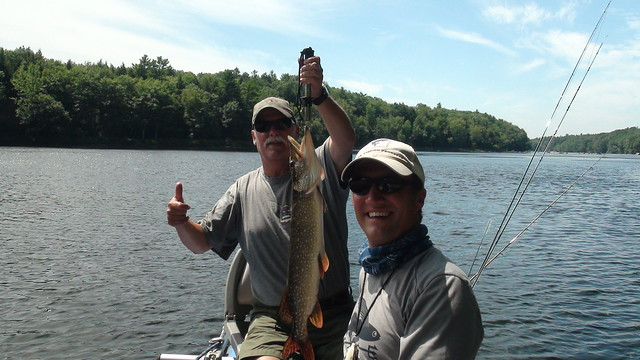 King with a nice Maine Pike caught on a Fly!