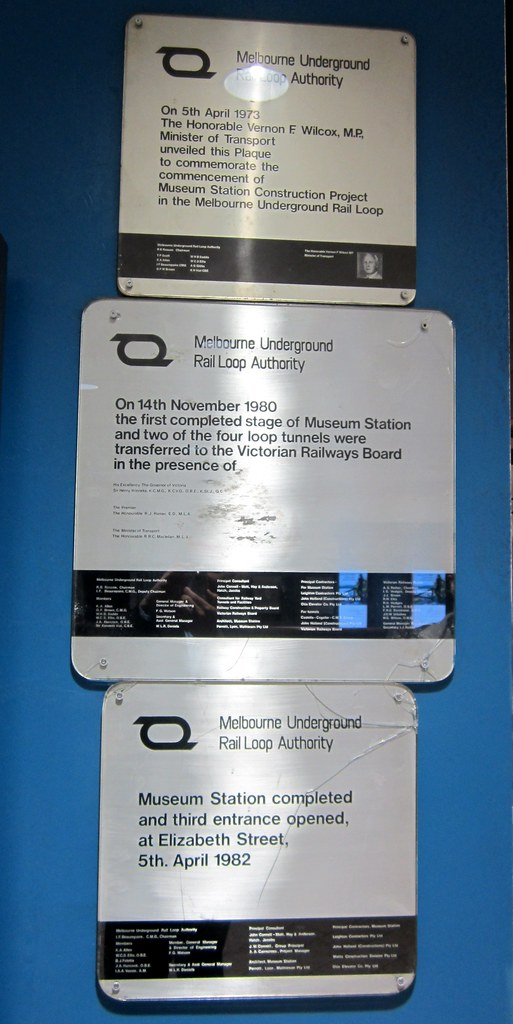 Melbourne City Loop MURLA plaques