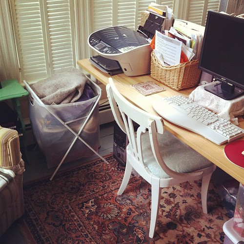 a place to write #creativespaces #studio #interiors #unschooling #collections #organizedmess