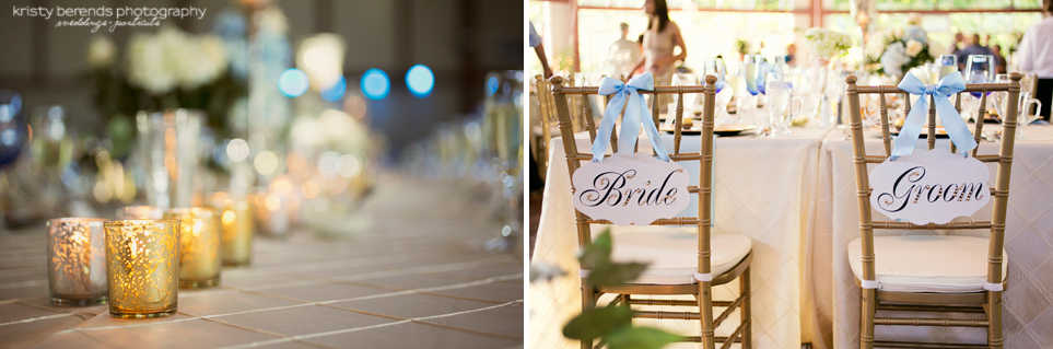 Bride and Groom Signs at the Reception