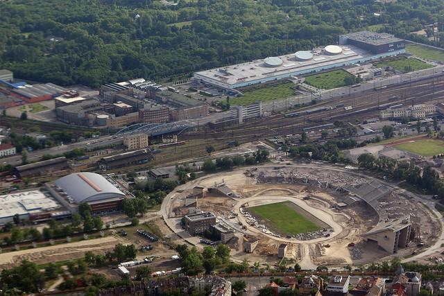 The half-demolished Puskás Ferenc Stadion, Budapest (Hungary)