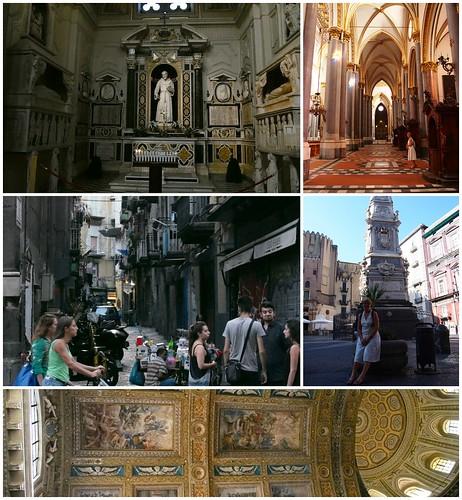 kollázs templomok, utcák