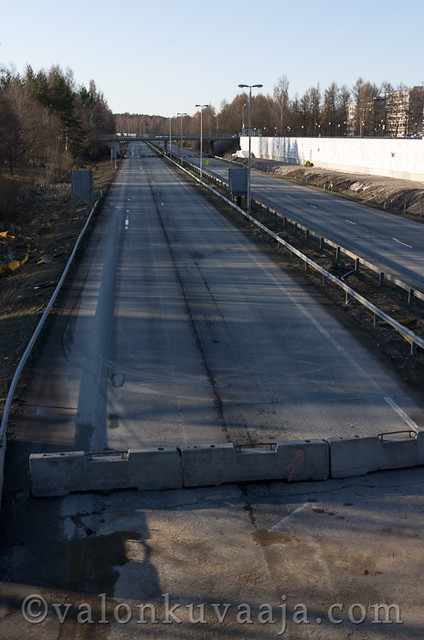 Moottoritien kate Hämeenlinnassa