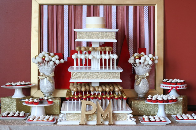 Wedding Cake Pops 49 Ideal Red gold and white