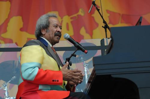 Allen Toussaint at Jazz Fest 2012. Photo by Leon Morris.