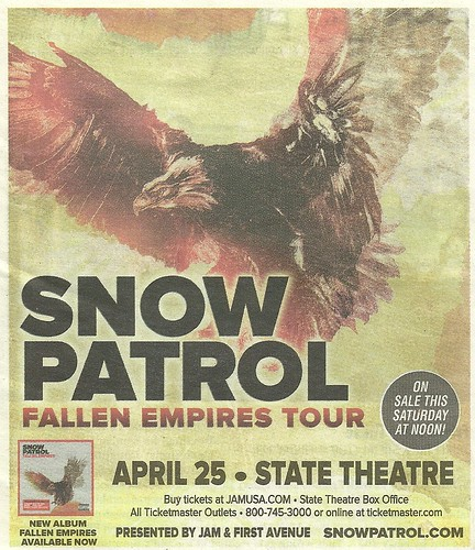 04-25-12 Snow Patrol @ State Theatre, Minneapolis, MN