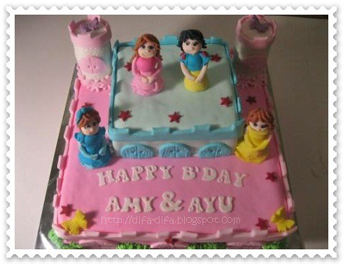 Castle for Amy n Ayu by DiFa Cakes