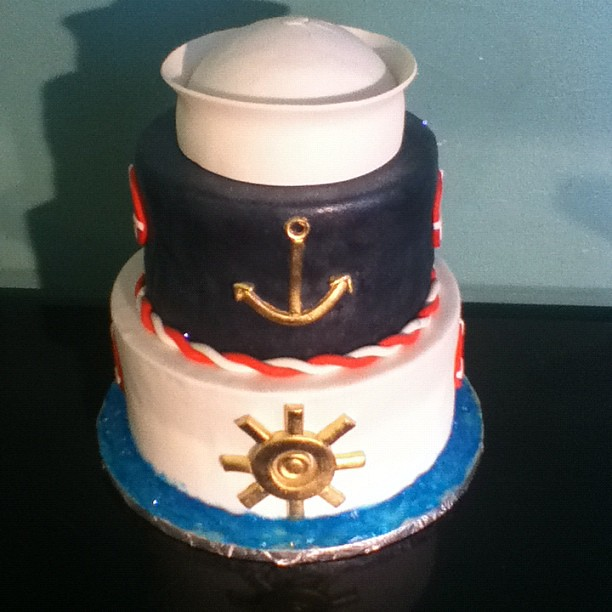 nautical themed baby shower cake flickr photo sharing