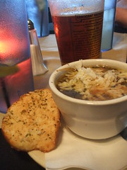 French onion soup & beer