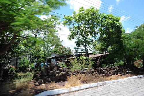 Puerto Ayoraの町