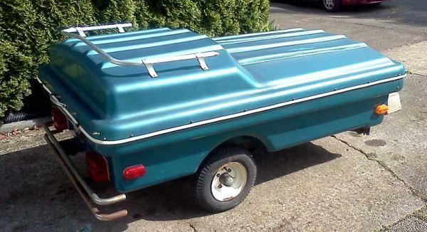 Motorcycle sized vintage popup camper trailer - $450 ...