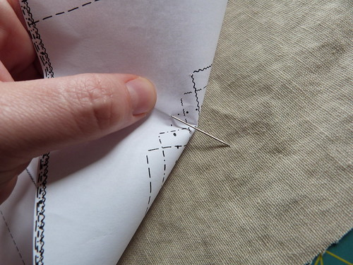 Transfering Markings, In This Case Pocket Placement