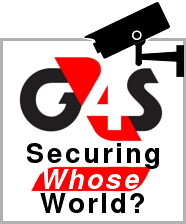 G4S - securing whose world? Image of security camera focused on G4