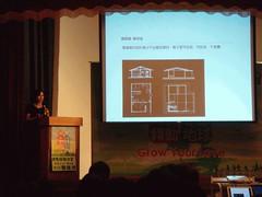 學學文創基金會執行長駱佳鴻強調,「綠色環保概念是必要,不是加分」。 (吳岱芝 攝)