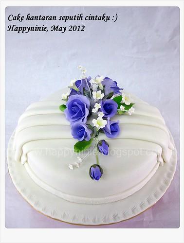 Cake hantaran 'Seputih cintaku'