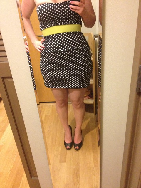 Polkadot minidress.