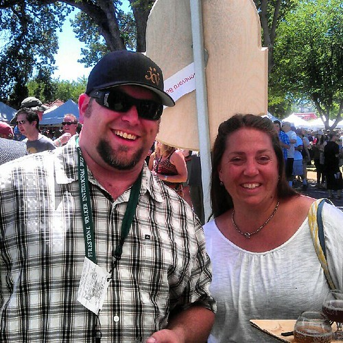 Oregon representative Travis Widdifield and friend at Firestone Walker Invitational Beer Fest
