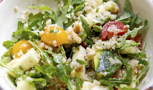 zucchini argula quinoa salad