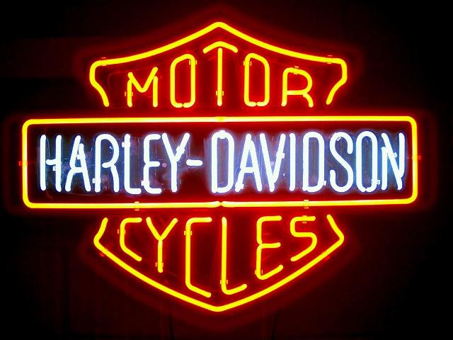 Harley Davidson Shield Neon Signs For Sale