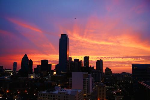 city morning urban sunrise dallas places flickraward