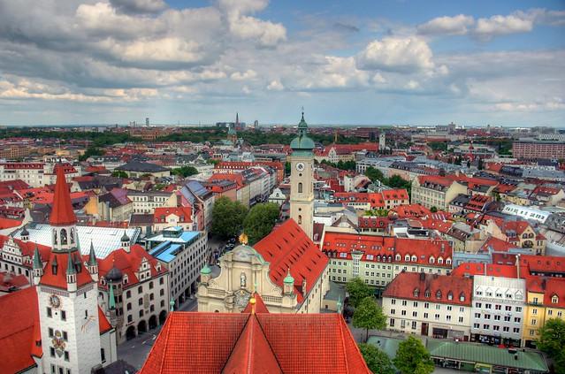 Munich Cityscape - Flickr CC John Morgan