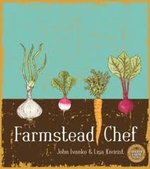 cover of the farmstead chef cookbook, which features illustrations of vegetables growing in the ground